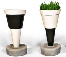 Concrete Porcelain vases